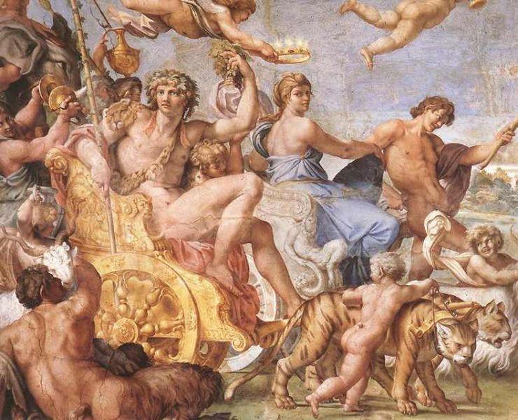 Bacchus, de god van de wijn, de god van de roes en van dronkenschap