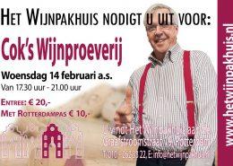 Cok's Hapjes- en Wijnproeverij op woensdag 14 februari 2018