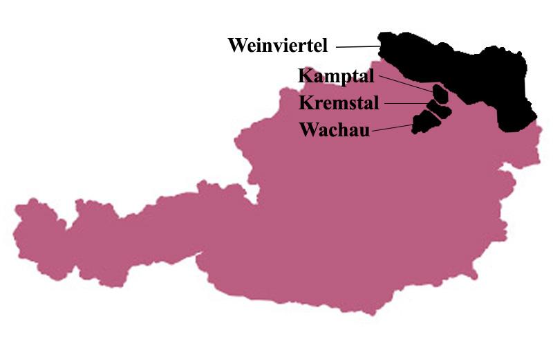 Oostenrijkse wijnregio's Grüner Veltliner