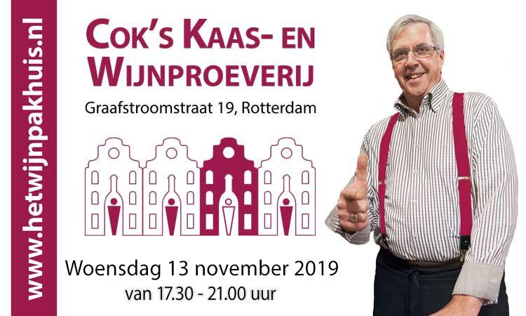 Proeverij woensdag 13 november a.s. in Het Wijnpakhuis