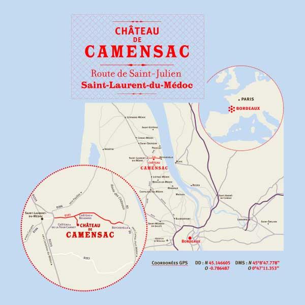 Duo Château de Camensac 1998 (beperkte oplage)