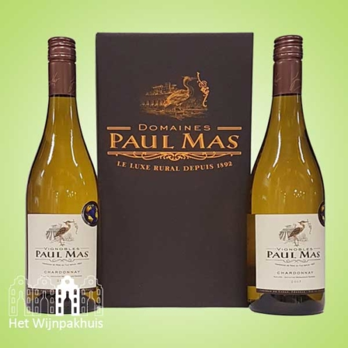 Duo Paul Mas chardonnay in mooie doos