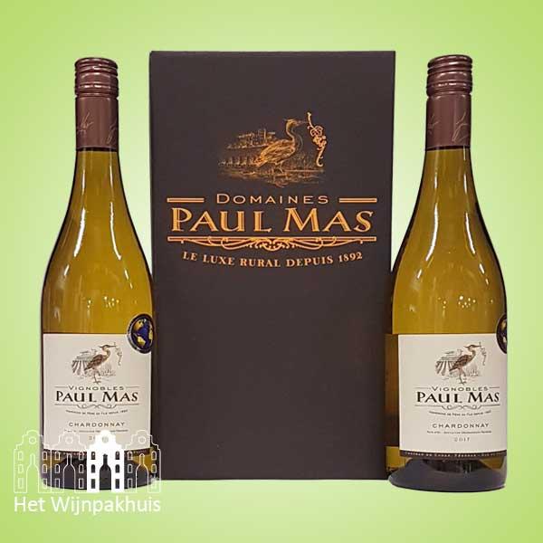 Duo Paul Mas chardonnay in mooie doos